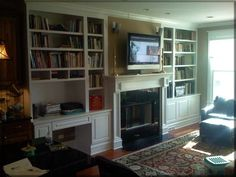 Fireplace built-ins with desk | Bedroom and Office | Pinterest ...