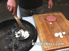 Mushrooms and Onions Hamburger by the BBQ Pit Boys