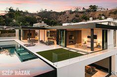 Modern villa a domboldalon - Szép Házak