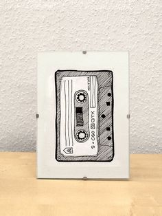 Cassette / Fineliner on paper 14 € - Skizzieren Camera Drawing, Black White Art, Pen Art, Cute Drawings, Doodle Art, Art Inspo, Art Sketches, Painting & Drawing, Sculpture Art