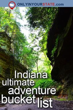 Travel | Indiana | USA | Attractions | Outdoors | Adventure | State Parks | Things To Do | Destinations | Places To Visit | Hoosier | Easy Hikes | Trails | Hiking | Pine Lake | Waterpark | Cave | Waterfalls | Natural Beauty | Aerial Park | Indiana Dunes | Nature | Wildlife | Indiana Parks | Adventure Bucket List