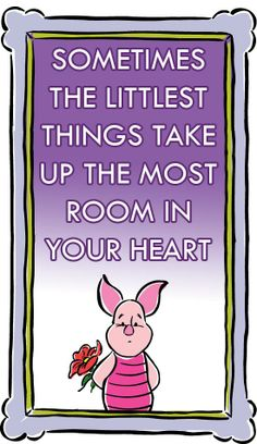 #Piglet Sometimes the littlest things take up the most room in your heart