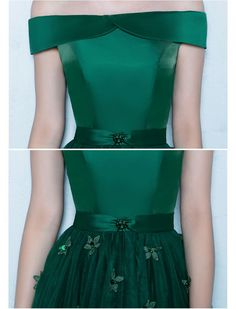 1950s Style Off Shoulder Floral Prom Dress