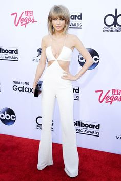 The Awkward Knockoff Circle That's Happening Because Of Taylor Swift's BBMA Jumpsuit #refinery29  http://www.refinery29.com/2015/05/87717/taylor-swift-balmain-jumpsuit-nasty-gal-copy