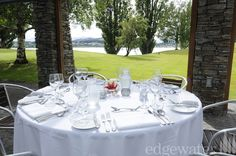 Beautiful table settings at our Wanaka wedding venue http://www.edgewater.co.nz/resort/weddings/