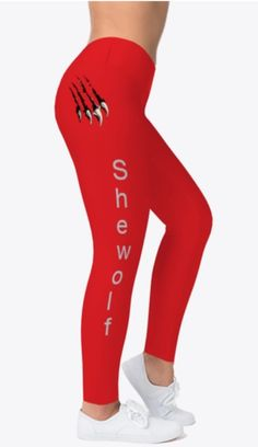 She wolf leggings for the paranormal romance lover and gym babe She Wolf, Paranormal Romance, Babe, Sweatpants, Leggings, Gym, Casual, How To Wear, Collection