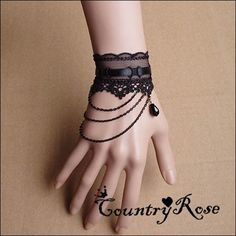 Exhilarating Jewelry And The Darkside Fashionable Gothic Jewelry Ideas. Astonishing Jewelry And The Darkside Fashionable Gothic Jewelry Ideas. Lace Jewelry, Gothic Jewelry, Body Jewelry, Jewelry Accessories, Fashion Accessories, Jewelry Design, Fashion Jewelry, Gloves Fashion, Lace Necklace