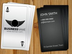 Free business card template psd for print httpdailyfreepsd playing card business card free template by hotpindesignsiantart on deviantart colourmoves