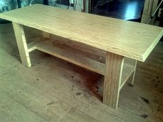 Laminated plywood coffee table