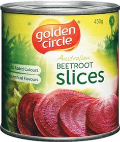 Golden Circle Sliced Beetroot is a traditional beetroot cut. Beetroot is free from fat and a natural source of fibre and antioxidants. Perfect for barbeques, in sandwiches and burgers or as a side salad. Make a salad with fetta basil and olive oil.