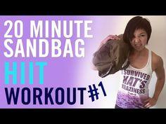 20 Minute Sandbag HIIT Workout #1 - YouTube