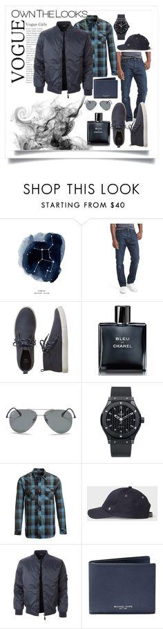 """👨🏻💻"" by sabilatifova ❤ liked on Polyvore featuring Gap, Chanel, Ray-Ban, Hublot, Flylow, LE3NO, Michael Kors, men's fashion and menswear"