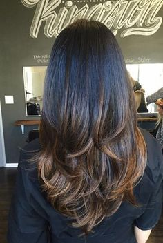 20 Gorgeous Hairstyles For Long Hair Long Layered Hair Straight Gorgeous Hair hairstyles long Ombre Hair, Balayage Hair, Brown Balayage, Balayage Straight, Balayage Highlights, Brunette Highlights, Brown Highlights, Pastel Hair, Caramel Highlights