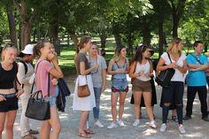 Visita que los alumnos de español para extranjeros de la Academia Paraninfo realizaron al Parque del Retiro.