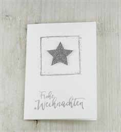 Carolas Bastelstübchen Karten Diy, Twinkle Twinkle Little Star, Stampin Up, Christmas Cards, Paper Crafts, Place Card Holders, Frame, Creative, Inspiration