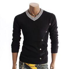 Doublju Mens Pullover Stylish Knit Sweater (1326)