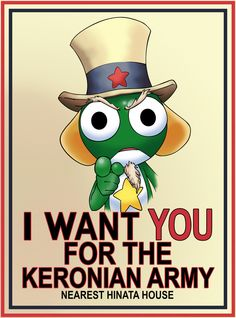Sgt Frog Wants You by jaldridge1