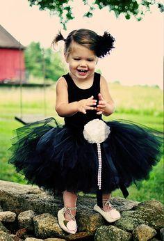 Audrey Hepburn inspired little black tutu