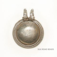 1 old antique east indian silver amulet pendant india #27