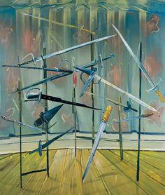 Dana Schutz, Sword Rack, 2003