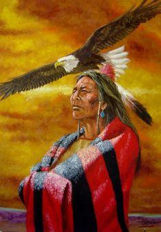 Eagle Vision painting by Jeroen Vogtschmidt