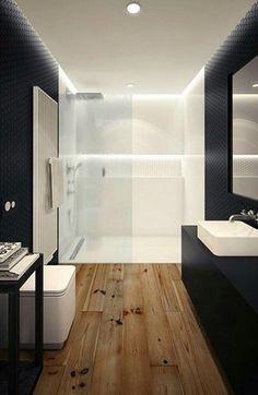 bathroom black and white minimal