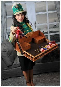 """The old fashioned """" vendor's tray girl"""" is also know as """"vintage trey lady"""", """"cigarette girl"""", """"cigar girl"""" or an """"candy girl"""""""