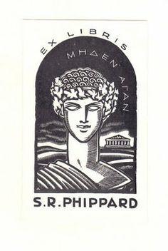 Ex libris by Adrian Feint (Australian, 1894 - 1971)