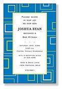 Blue Geometric Invite