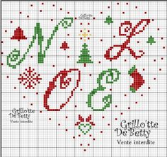 noël - christmas - coeur - point de croix - cross stitch - Blog : http://broderiemimie44.canalblog.com/