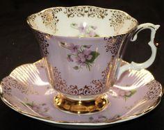 Royal Albert England Mauve Purple Gold   Un-Named