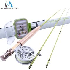 82.00$  Buy here - http://ali8nu.worldwells.pw/go.php?t=32686317155 - 2WT Fly Rod Combo 6FT Fly Rod Aluminum Reel Weight Forward Line 12 Dry Flies Fly Fishing Outfit  82.00$