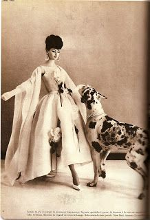 vintage Vogue with dogs. #Great #Dane