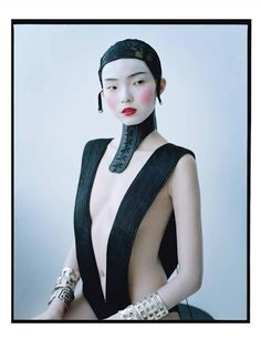 Xiao Wen Ju wearing Haider Ackermann, photographed by Tim Walker for W magazine, 'Magical Thinking', February 2012 issue.