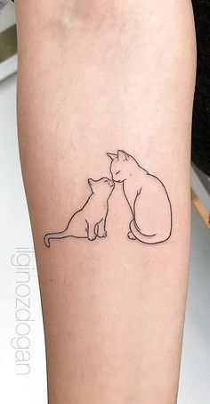 Top 39 cat tattoo designs for cat lovers 2019 - Page 17 of 39 - . The 39 best Top 39 cat tattoo designs for cat lovers 2019 - Page 17 of 39 - . The 39 best cats tattoo designs for cat lovers 2019 - Page 17 of 39 - # Designs # Lovers - Kitten Tattoo, Cute Cat Tattoo, Cute Tats, Cat Outline Tattoo, Lucky Cat Tattoo, Meaningful Tattoos For Women, Tattoos For Women Small, Small Tattoos, Cool Tattoos