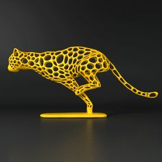 Cheetah Sprinter 3d printing art sculpture inspired by the speedy creature. Order 3d printed product at https://www.rinkak.com/jp/item/formbyte/6233858030698496
