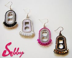 Eco-Friendly Jewelry Earrings Take a good look.... hard to believe that these fabulous eco-friendly jewelry earrings are made from pre-consumer waste and throw away materials.