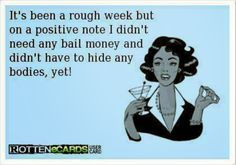 Rough week? Try a rough year! Im impressed with my restraints lol ....so far