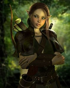 Gorgeous elf warrior. Looks like someone you wouldn't want to piss off.