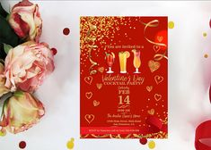 ValentineS Day Office Party Invitation ValentineS  ValentineS