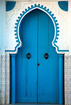 """blue door in Chefchaouen, Morocco"" by Milena Boeva"