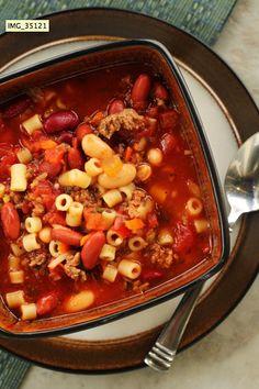 Olive Garden's Pasta E Fagioli Soup Crockpot Recipe...make vegetarian