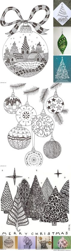 Christmas Zentangle Patterns                                                                                                                                                                                 More