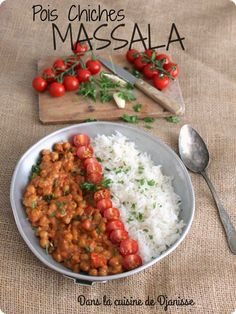 Plats Healthy, Vegetarian Recipes, Healthy Recipes, Fitness Nutrition, Chana Masala, Veggies, Food And Drink, Tasty, Lunch