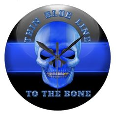 """Thin Blue Line to the Bone"" clock #Police #LawEnforcement #ThinBlueLine"