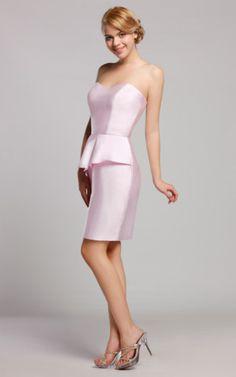 Natürliche Taile Etui Brautjungfernkleid/ Partykleid ohne Ärmeln.Für weitere Informationen, besuchen Sie bitte http://www.emodeshop.de/brautjungfernkleider-d3