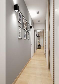 Hallway Ideas Long - New ideas Room Design Bedroom, Home Room Design, Home Interior Design, Living Room Designs, Interior Decorating, Interior Architecture, Home Entrance Decor, Hallway Wall Decor, Dining Room Wall Decor