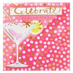 Buy Card Mix Birthday Cocktail Greeting Card Online at johnlewis.com