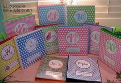 monogrammed binder covers . . . . love!