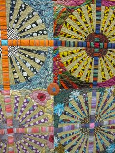 Great Fabrics for Wheel Quilt